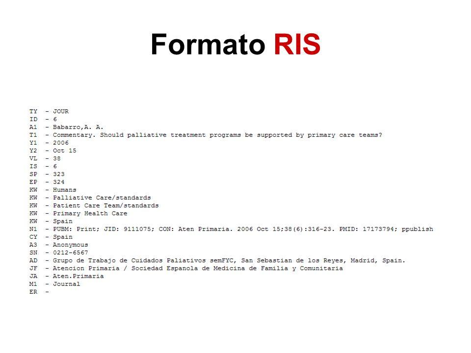 Formato RIS