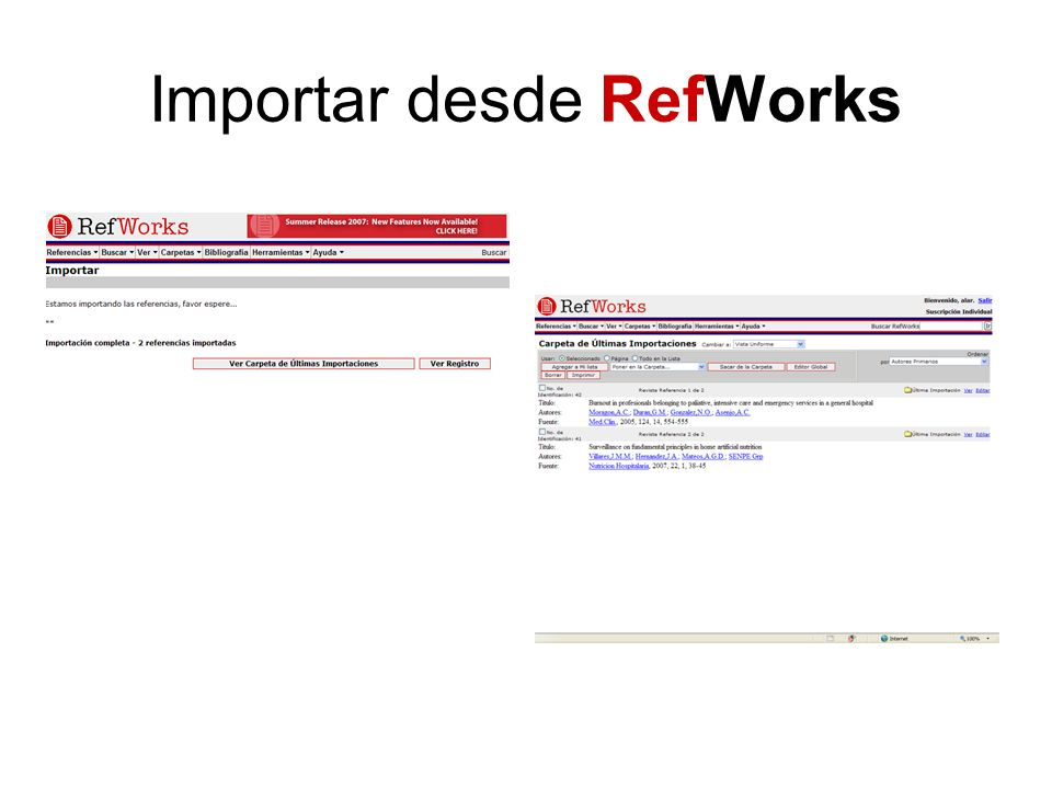 Importar desde RefWorks