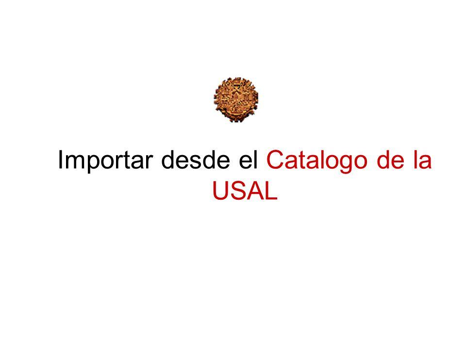 Importar desde el Catalogo de la USAL