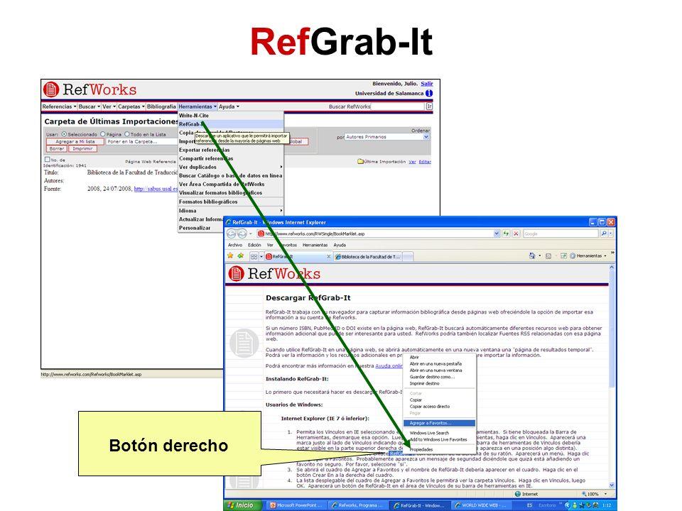 RefGrab-It Botón derecho
