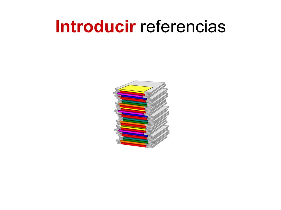 Introducir referencias