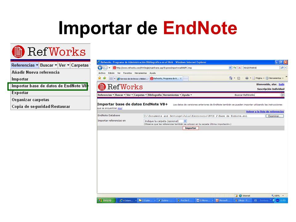 Importar de EndNote