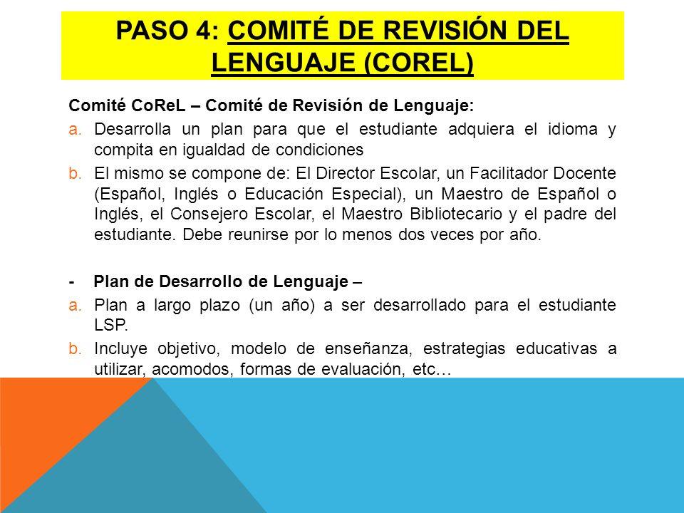 Paso 4: ComitÉ de revisiÓn del lenguaje (Corel)