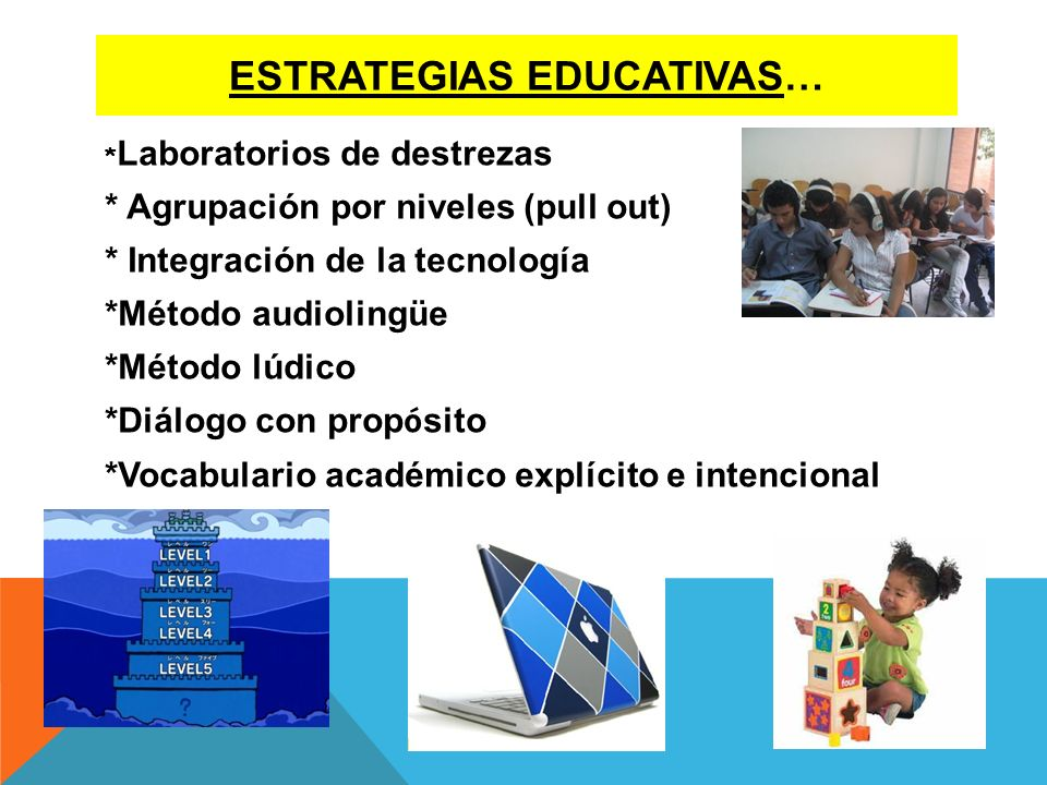 Estrategias educativas…