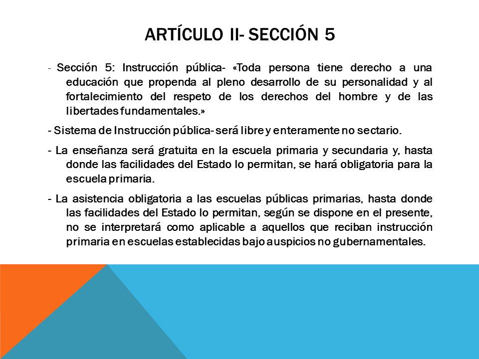 artÍculo ii- secciÓn 5