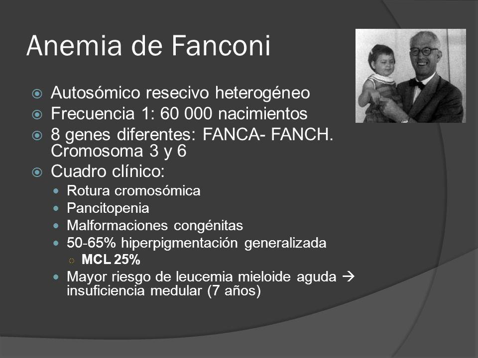 Anemia de Fanconi Autosómico resecivo heterogéneo