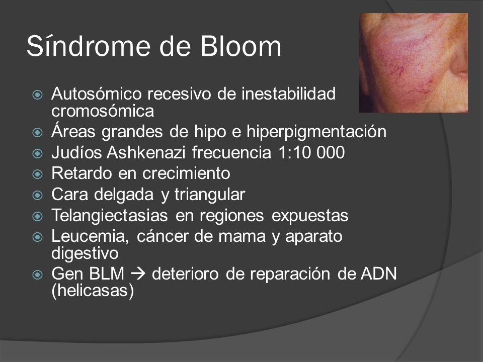 Síndrome de Bloom Autosómico recesivo de inestabilidad cromosómica