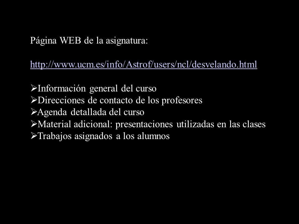 Página WEB de la asignatura: