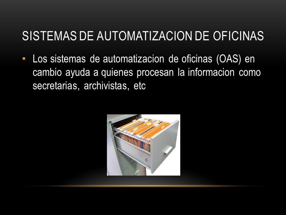 SISTEMAS de Automatizacion de OFIcinas