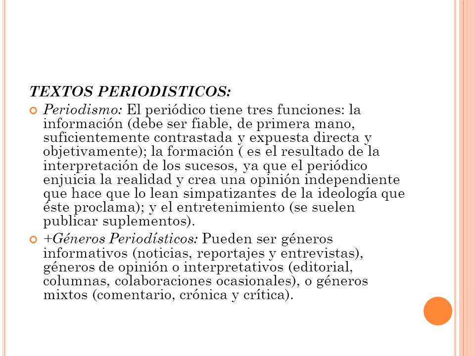 TEXTOS PERIODISTICOS: