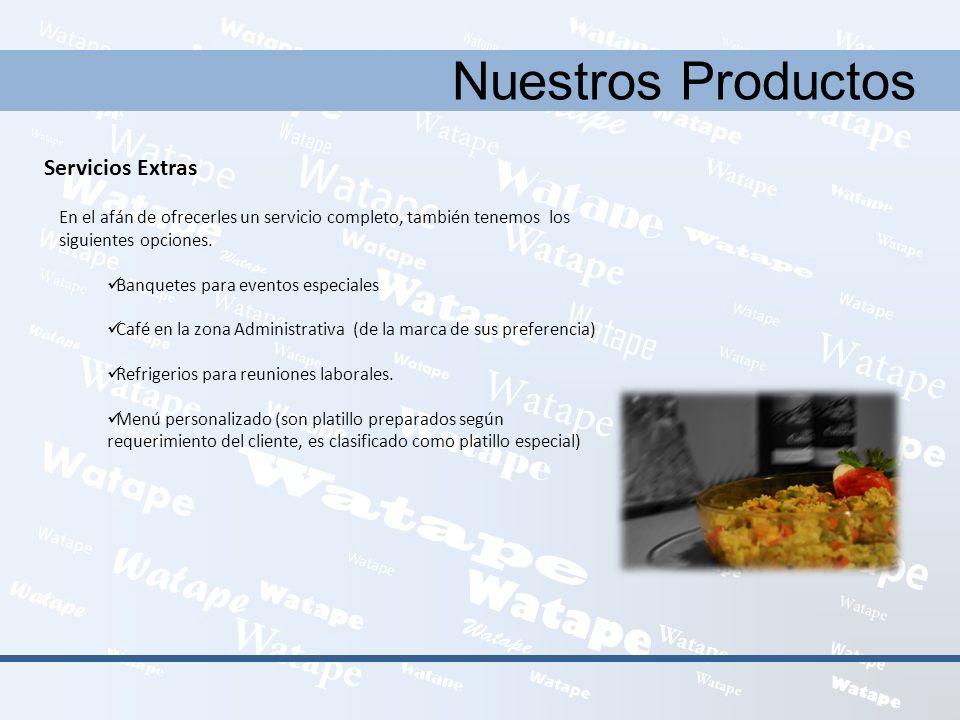 Nuestros Productos Servicios Extras