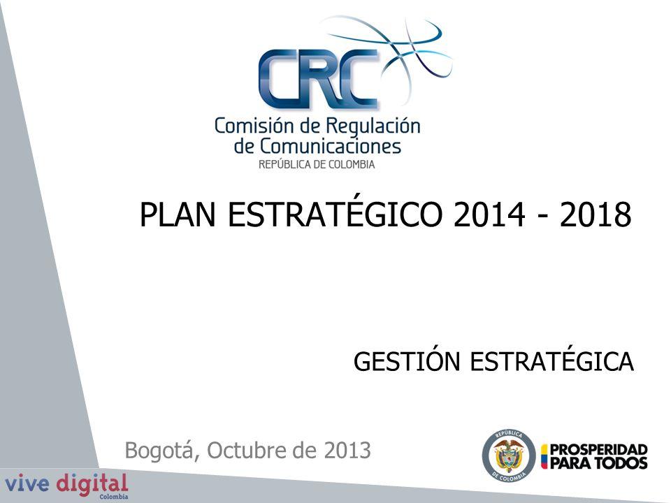 PLAN ESTRATÉGICO 2014 - 2018 GESTIÓN ESTRATÉGICA