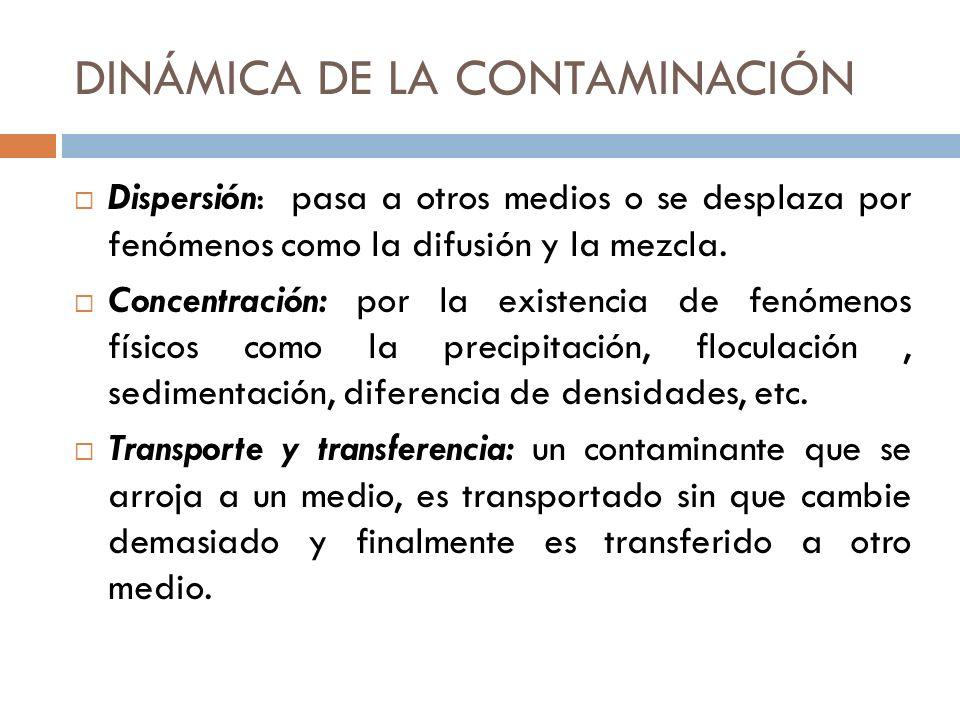 DINÁMICA DE LA CONTAMINACIÓN
