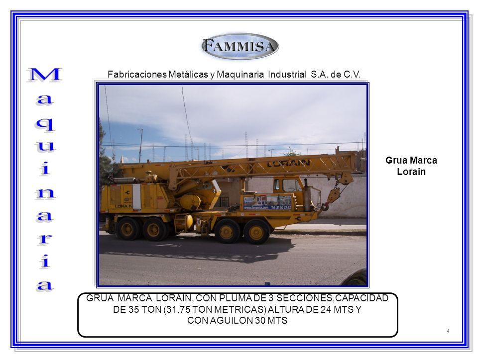 Fabricaciones Metálicas y Maquinaria Industrial S.A. de C.V.