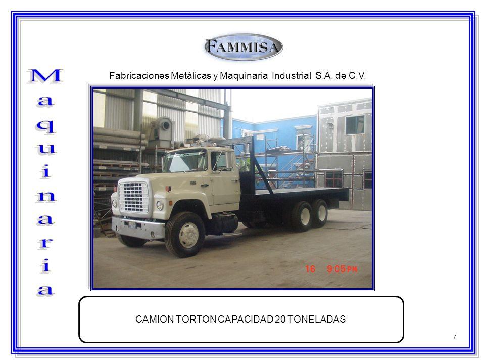 CAMION TORTON CAPACIDAD 20 TONELADAS