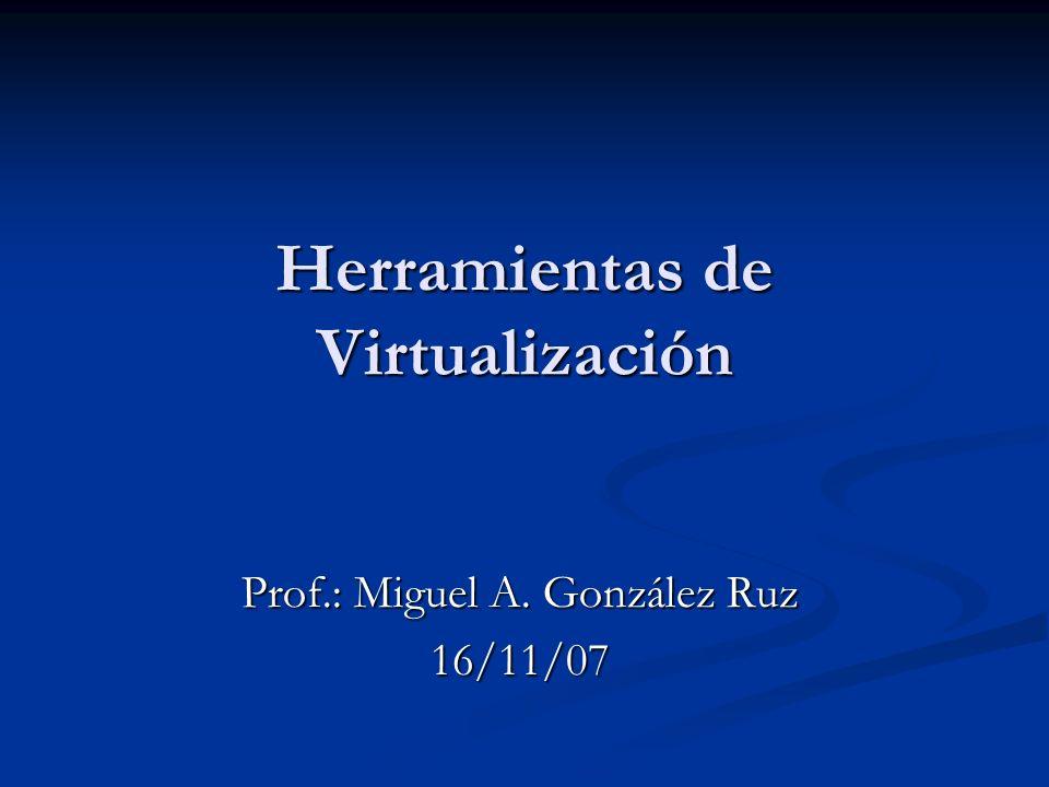 Herramientas de Virtualización