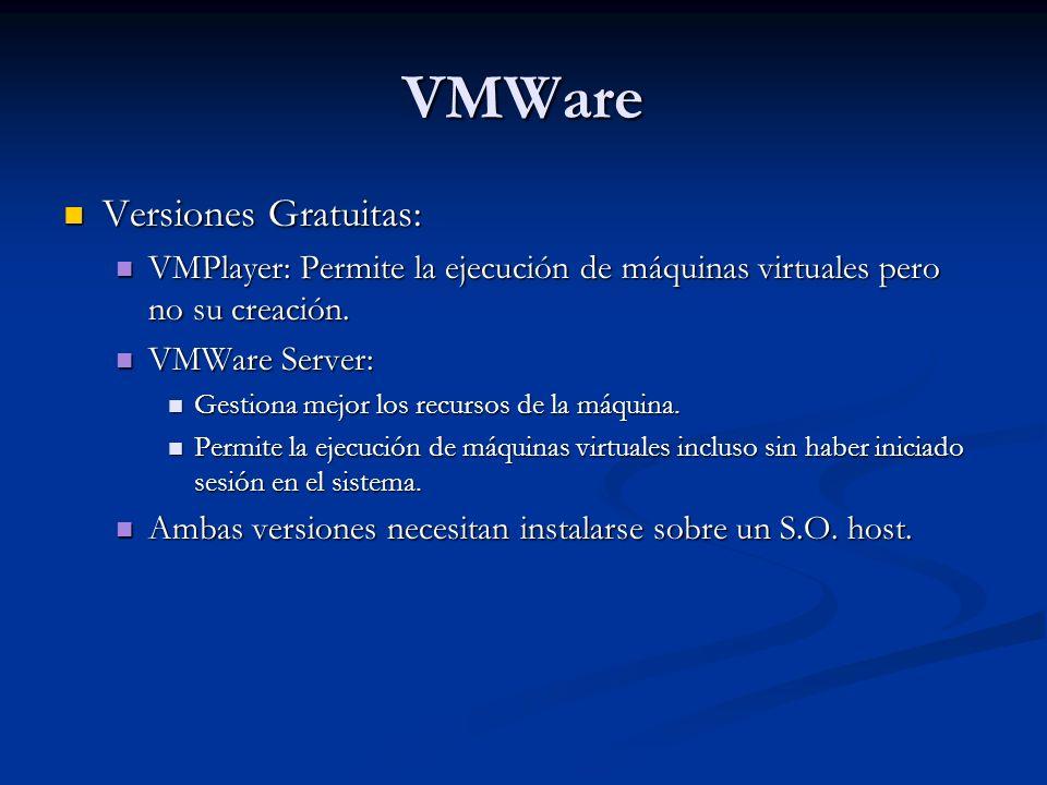 VMWare Versiones Gratuitas: