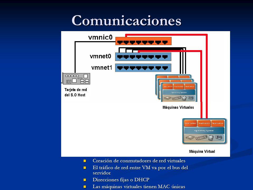 Comunicaciones Creación de conmutadores de red virtuales