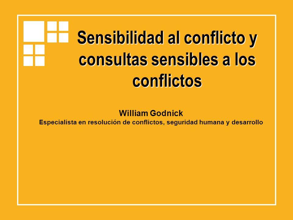 Sensibilidad al conflicto y consultas sensibles a los conflictos