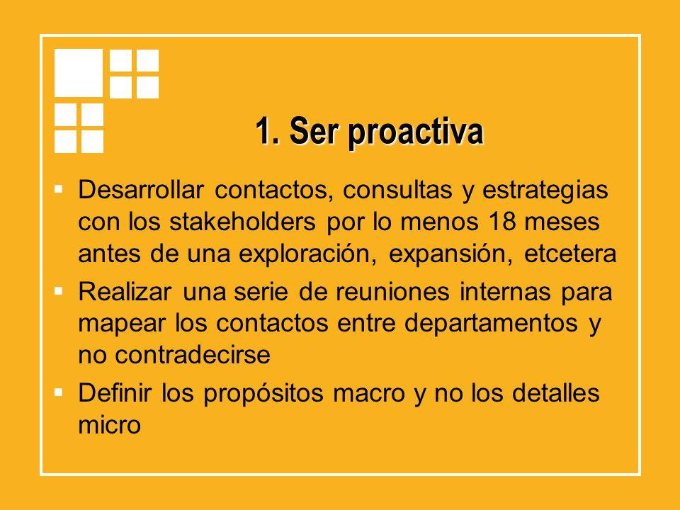 1. Ser proactiva