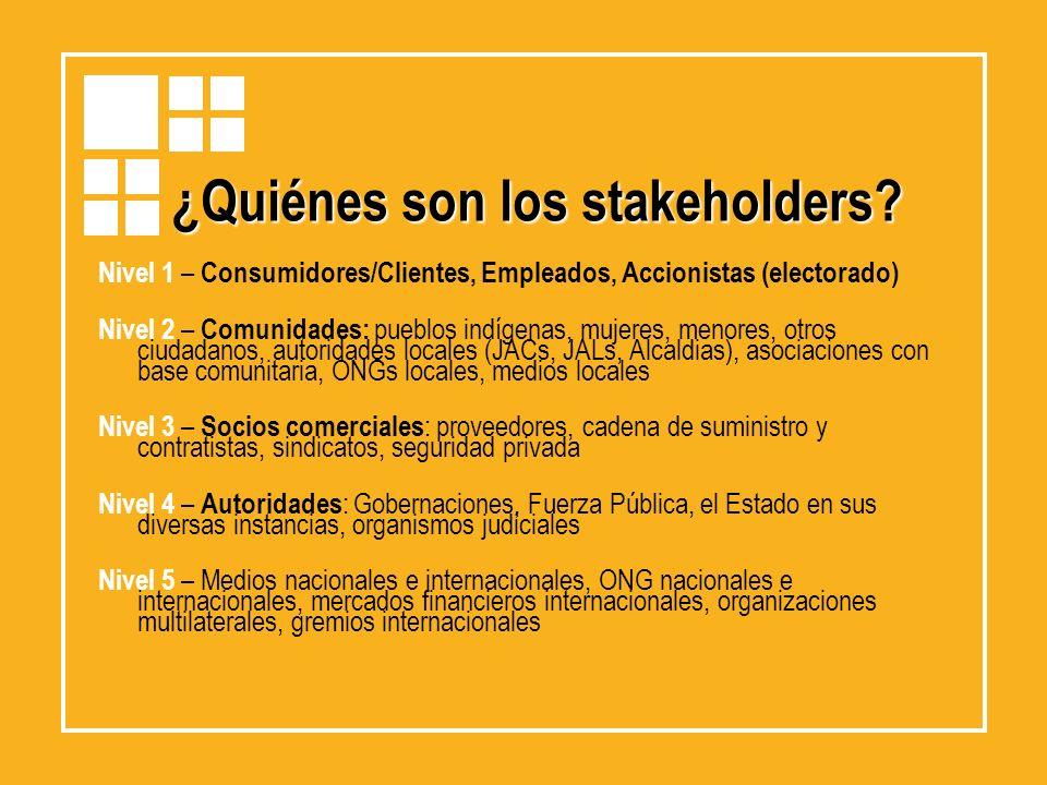 ¿Quiénes son los stakeholders