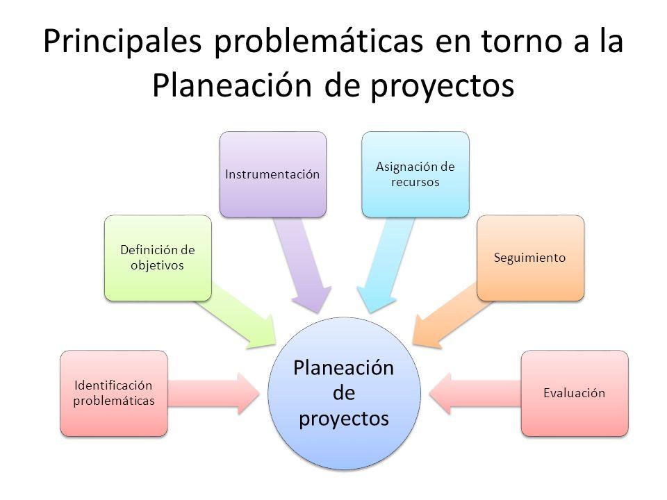 Principales problemáticas en torno a la Planeación de proyectos
