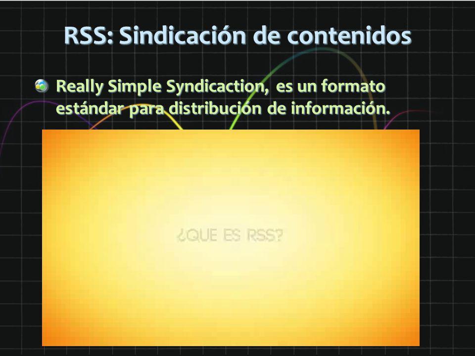 RSS: Sindicación de contenidos