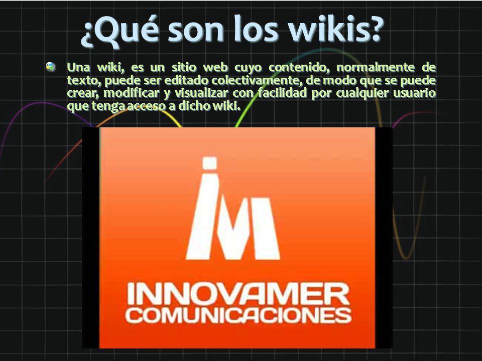 ¿Qué son los wikis