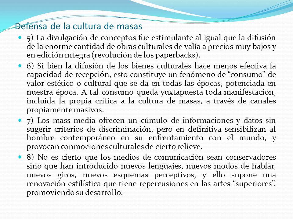 Defensa de la cultura de masas