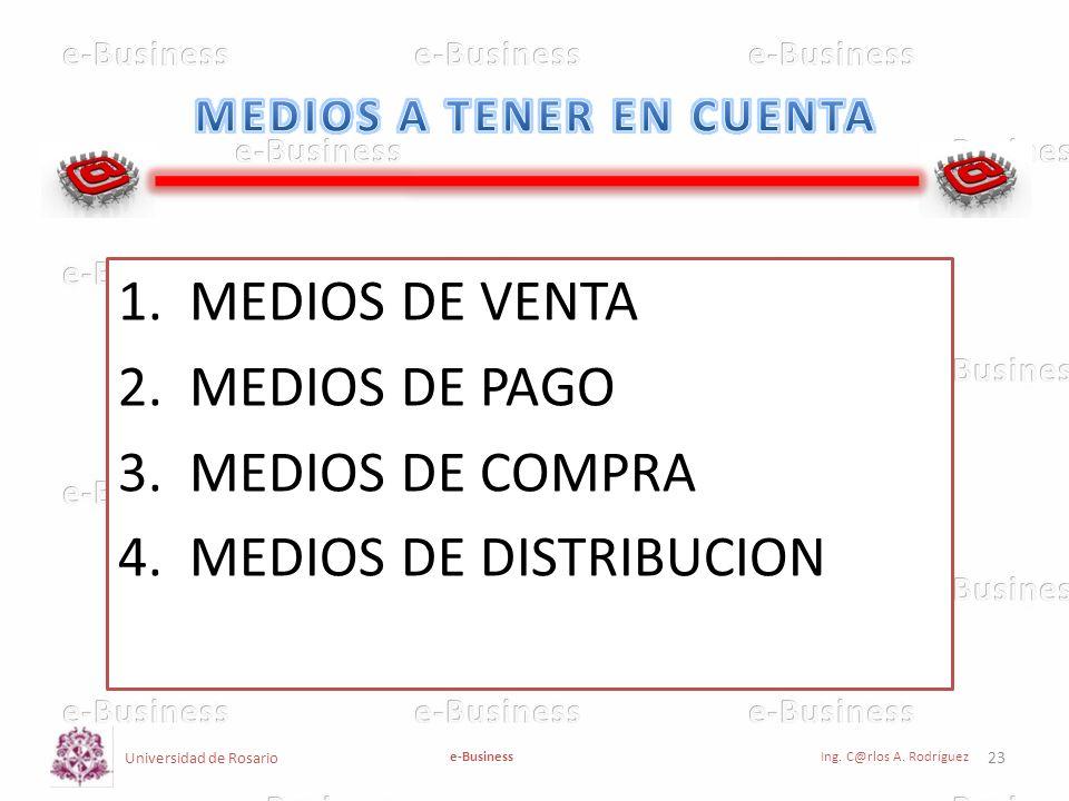 MEDIOS A TENER EN CUENTA