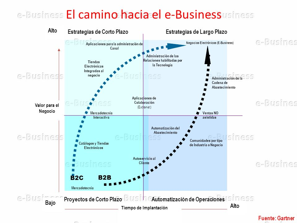 El camino hacia el e-Business