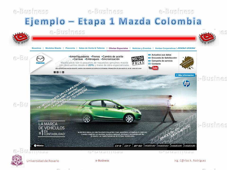 Ejemplo – Etapa 1 Mazda Colombia