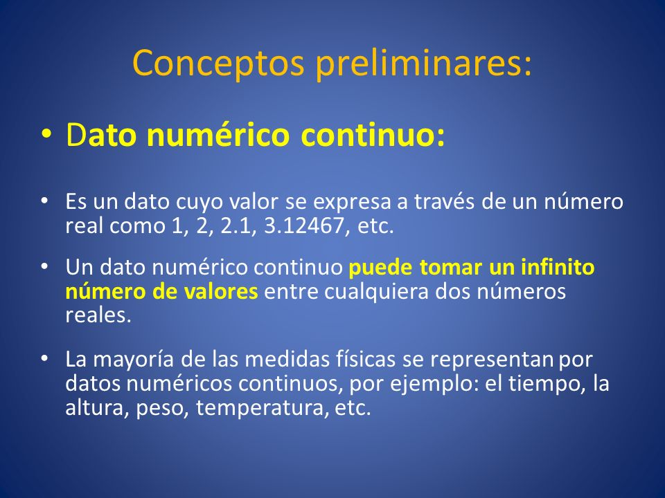 Conceptos preliminares: