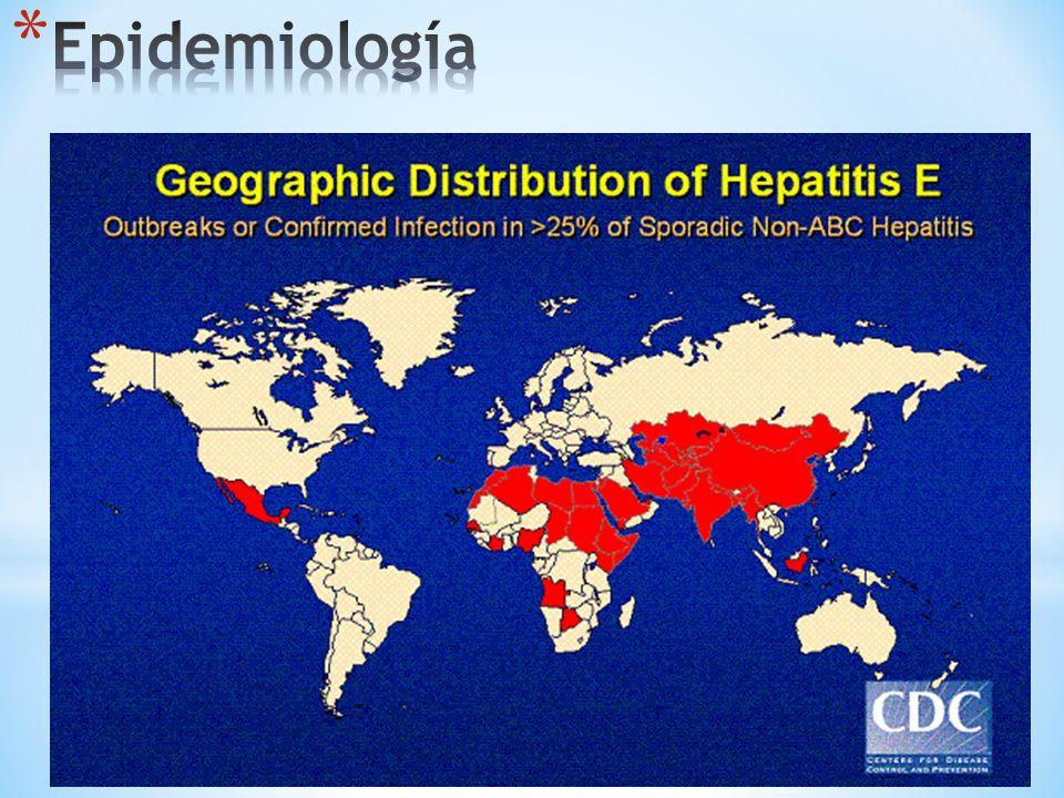 Epidemiología VIRUS DE LA HEPATITIS D VIRUS DE LA HEPATITIS E Adultos