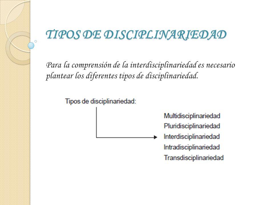 TIPOS DE DISCIPLINARIEDAD