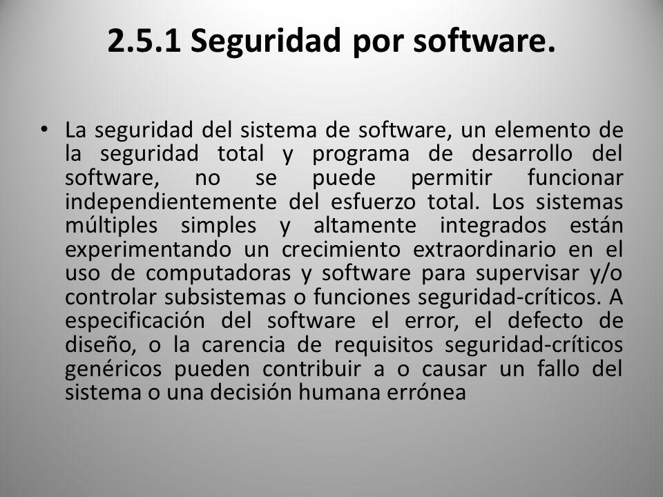 2.5.1 Seguridad por software.