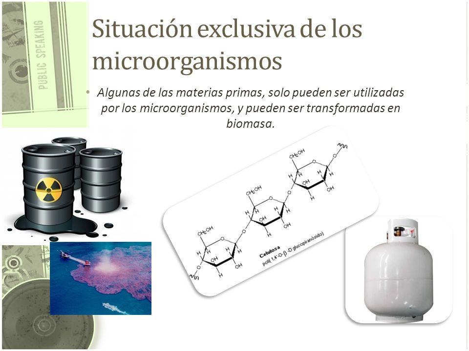 Situación exclusiva de los microorganismos