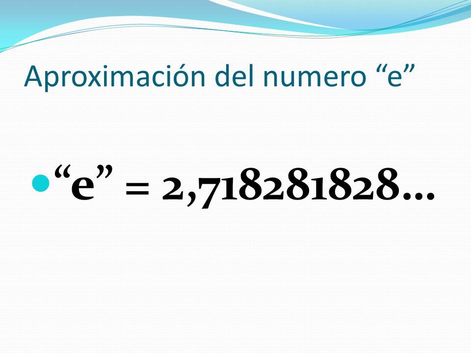 Aproximación del numero e