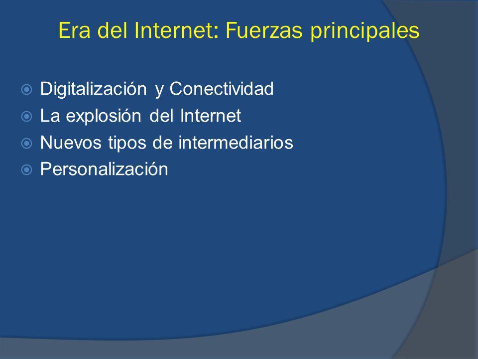 Era del Internet: Fuerzas principales