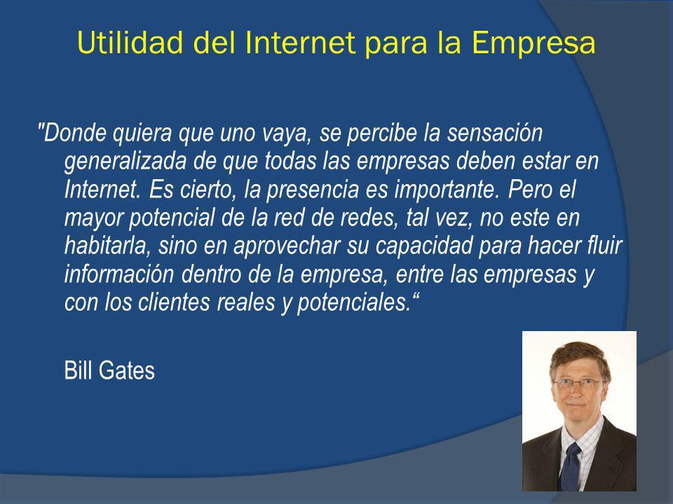 Utilidad del Internet para la Empresa