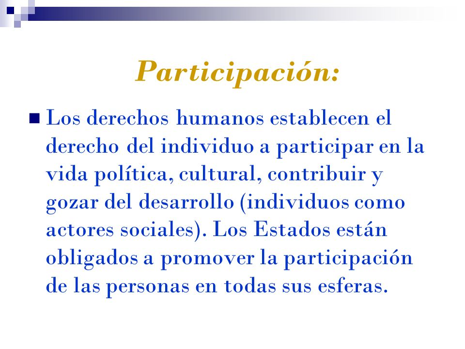Participación: