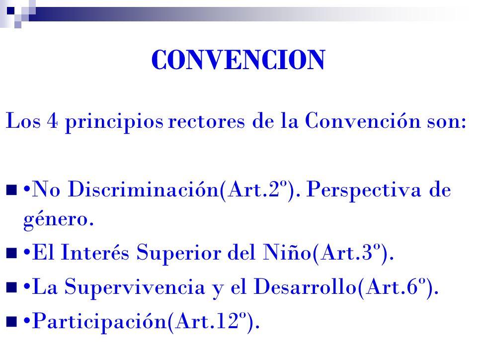 CONVENCION Los 4 principios rectores de la Convención son: