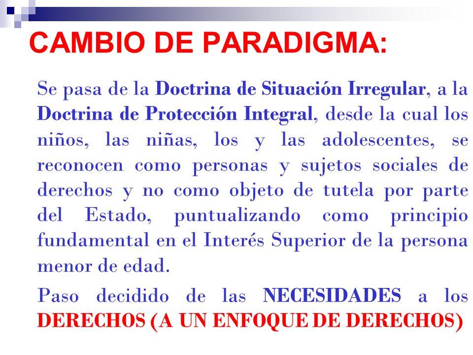 CAMBIO DE PARADIGMA:
