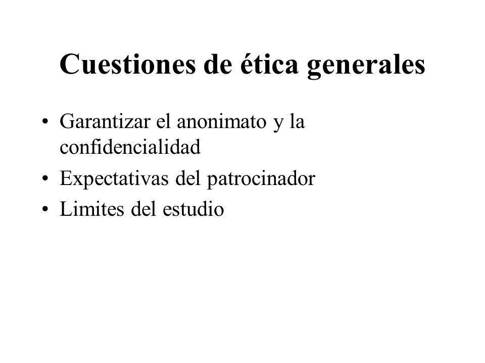 Cuestiones de ética generales