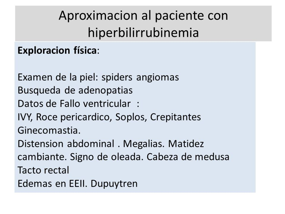 Aproximacion al paciente con hiperbilirrubinemia