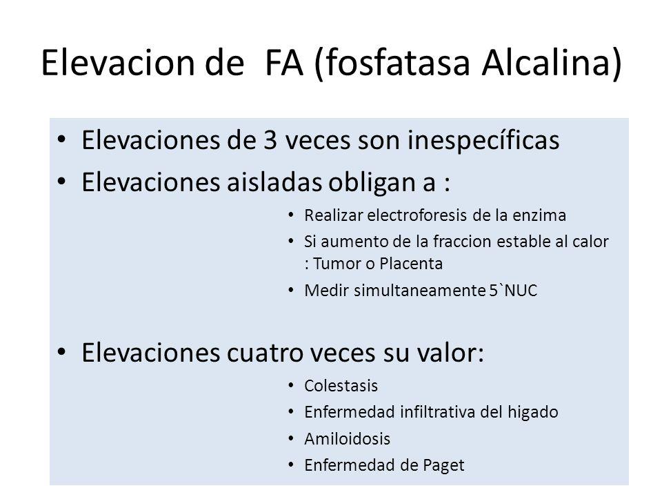 Elevacion de FA (fosfatasa Alcalina)