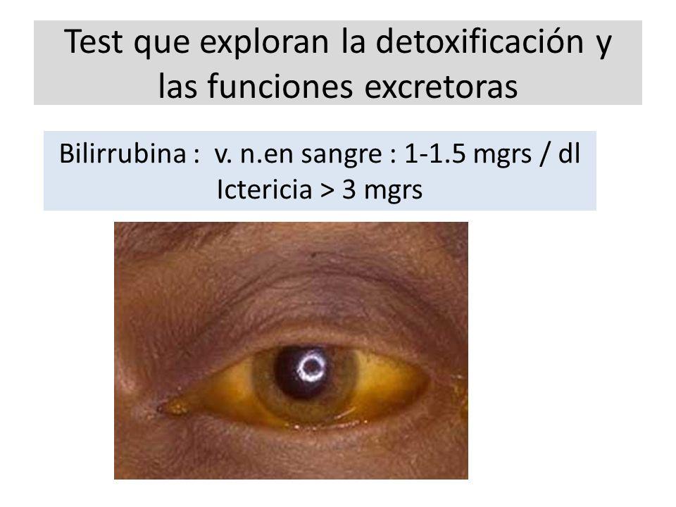 Test que exploran la detoxificación y las funciones excretoras