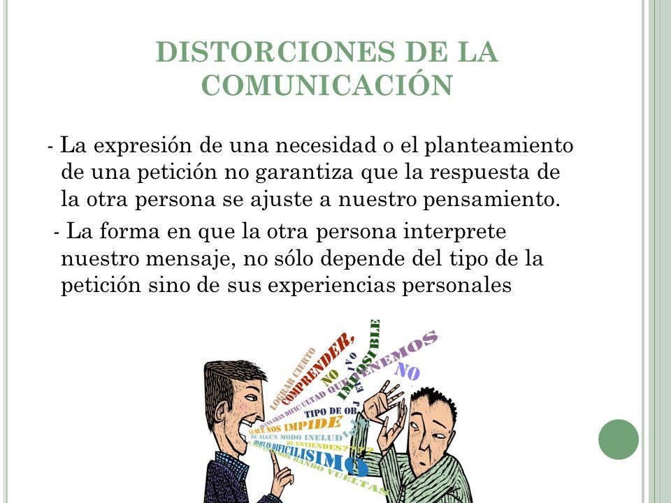 DISTORCIONES DE LA COMUNICACIÓN