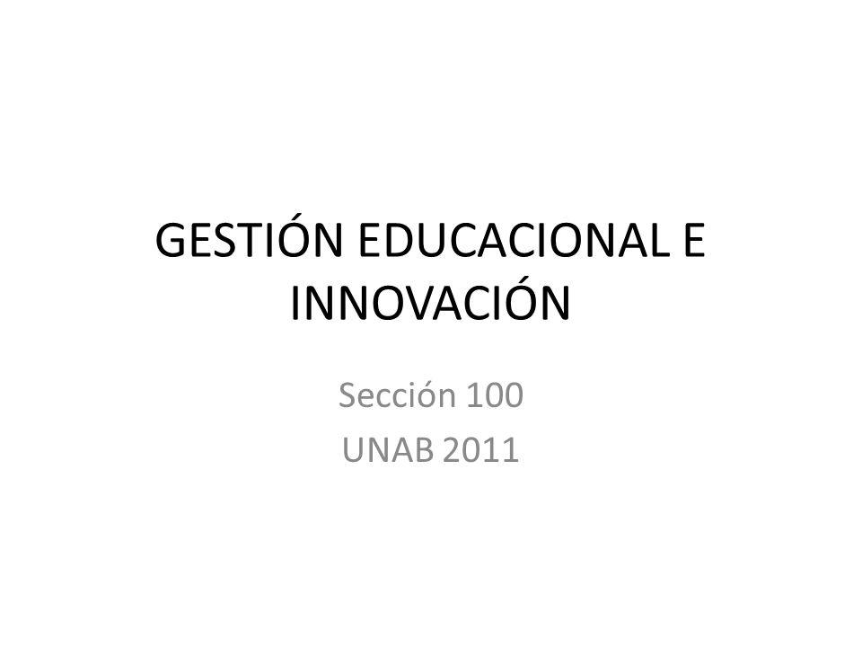 GESTIÓN EDUCACIONAL E INNOVACIÓN