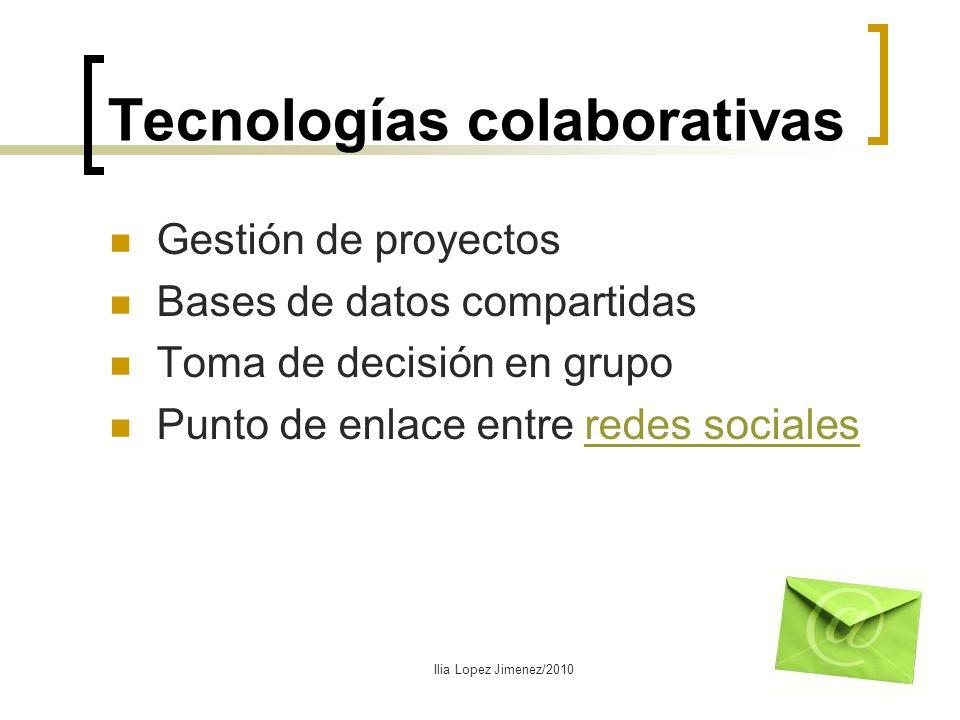 Tecnologías colaborativas